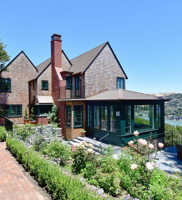 Golden Gate remodel home with green accents.