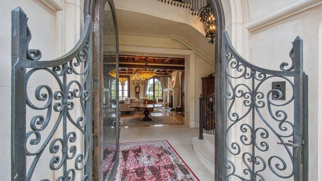Front door entryway into home