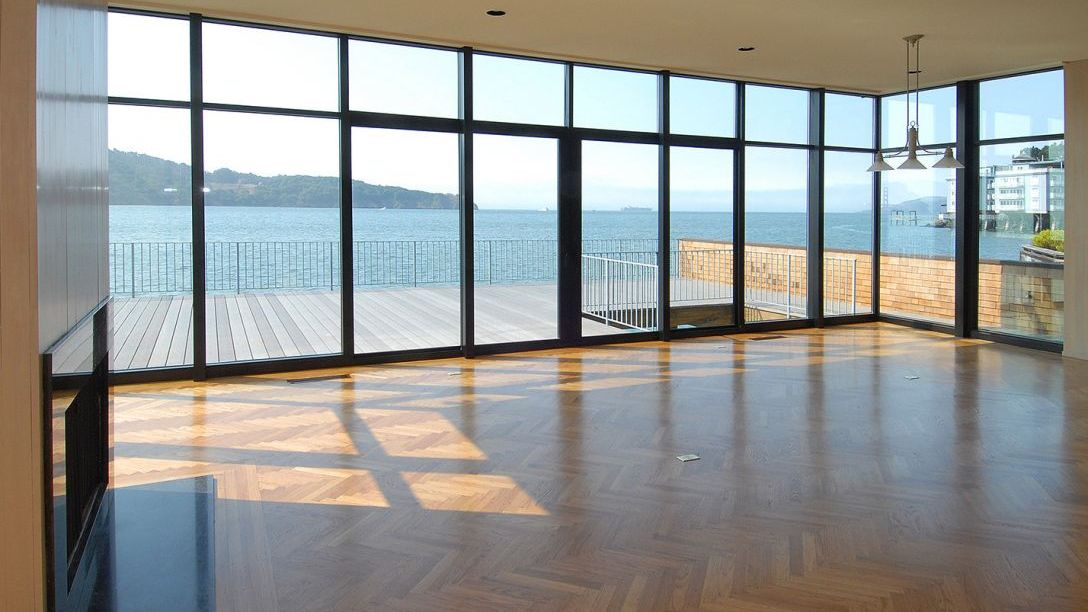 Another angle of family room area  overlooking the deck.