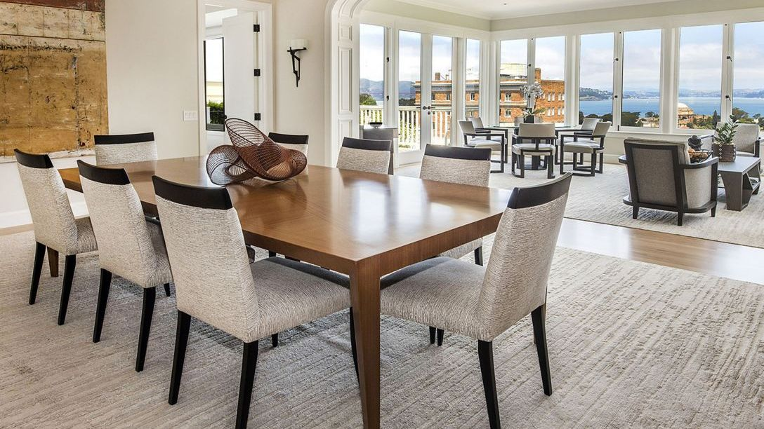 Dining and living room overlooking the Bay.